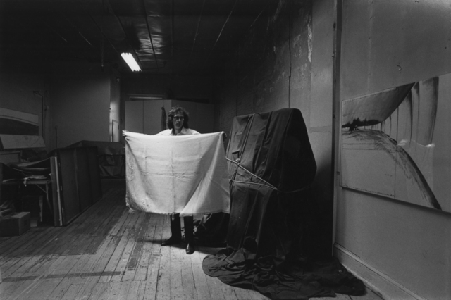 Eric Kroll, 'Christo, artist with his California wrapping material NYC', Etherton Gallery