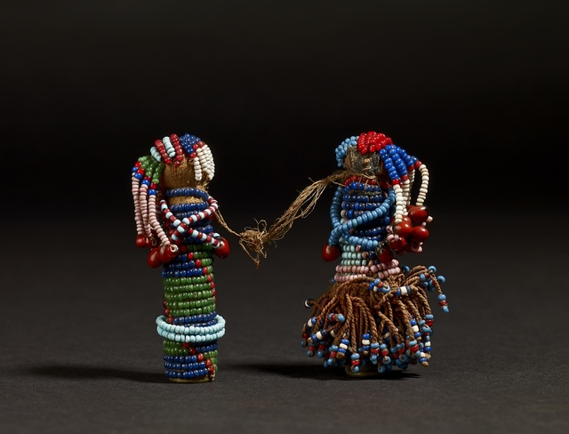 , 'Pair of Sotho Gun Cartridge Dolls,' Late 19th Century, British Museum