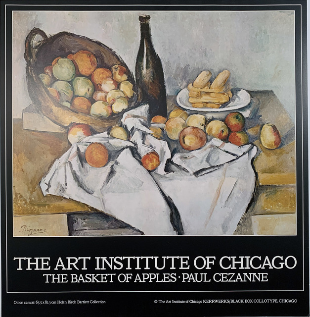 Paul Cézanne, 'The Art Institute of Chicago, The Basket of Apples, Paul Cezanne, Continuous Tone (No Dots) Lithographic Poster, HOLIDAY SALE $50 OFF THRU MAKE OFFER', 1980, David Lawrence Gallery