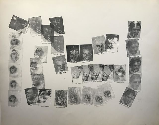 Andy Warhol, 'Untitled (7 Singers)', December 1962, Drawing, Collage or other Work on Paper, Stamped ink on paper, Dean Borghi Fine Art