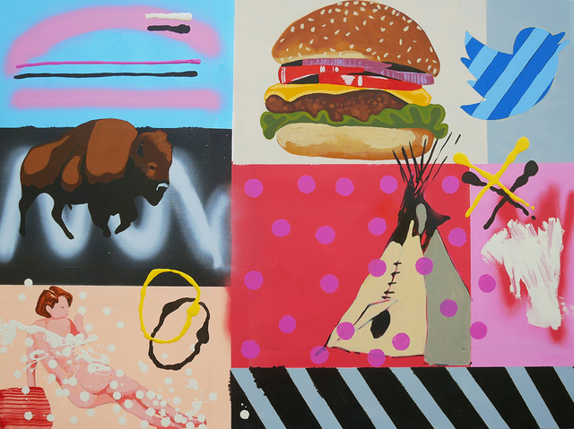 , 'Meta Painting - Cheeseburger,' 2017, Art Ventures Gallery