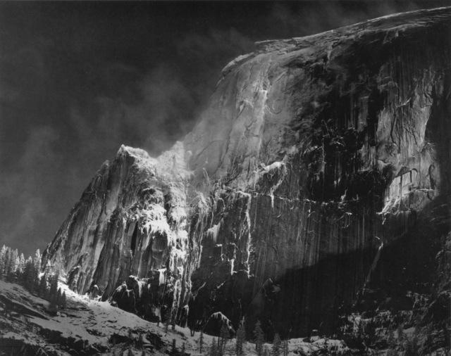 Ansel Adams, 'Half Dome, Blowing Snow, Yosemite National Park, CA', ca. 1955, Photography, Silver print, Robert Mann Gallery