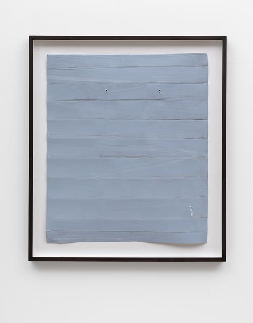 Özcan Kaplan, 'Papierarbeit (blau) #2, Januar 2018', 2018, Drawing, Collage or other Work on Paper, Dispersion paint, ink, paper, FELD+HAUS