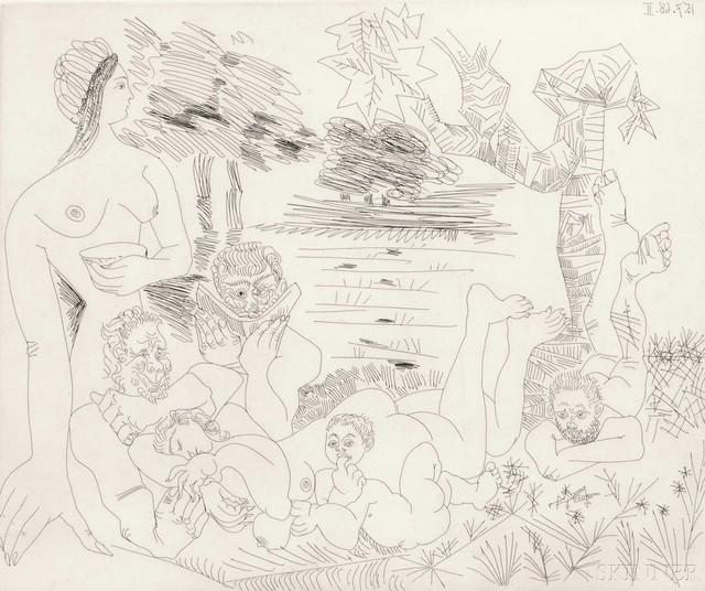 Pablo Picasso, 'Scène Pastorale Poussinesque sur le Thème de Pan et Syrinx', 1968, Skinner