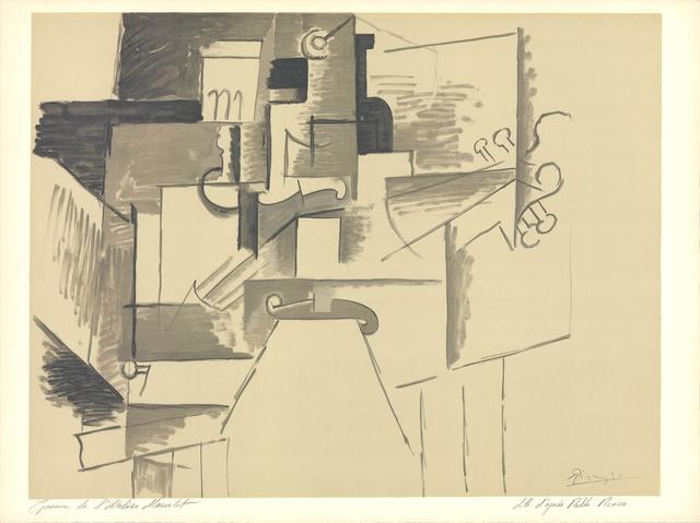 Pablo Picasso, 'La Table et le Guitare (d'apres Picasso)', 1956, ArtWise