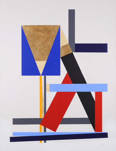 , 'Construction with Brown Triangle,' 1986, Charles Nodrum Gallery