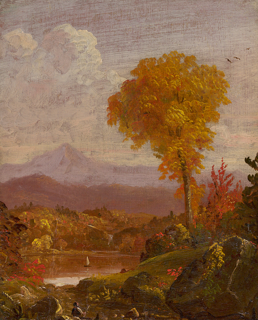 Thomas Cole, 'Reclining Figure in a Mountain Landscape', ca. 1845-1847, Painting, Oil on panel, Questroyal Fine Art
