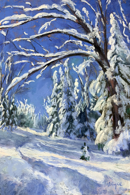 Takeyce Walter, 'Day 6: Snow Laden ', February 2020, Painting, Pastels, Keene Arts