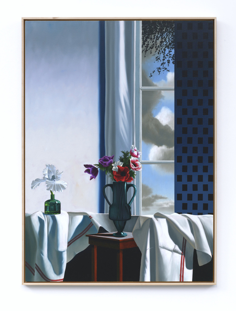 , 'Interior with Bearded Iris and Anemones,' 2019, Leslie Sacks Gallery