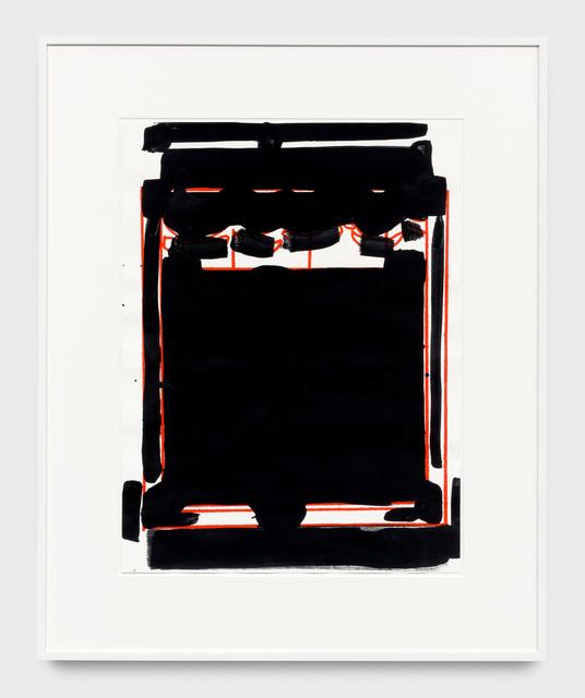 Matt Connors, 'Proscenium for SMC (All Black)', 2018, Xavier Hufkens