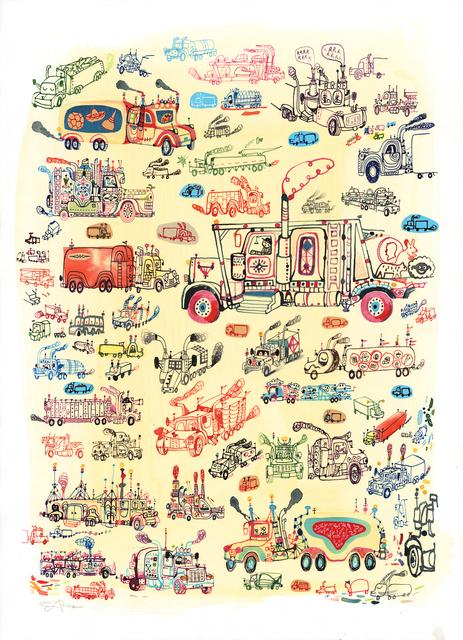 , 'Trucks,' 2013, Jonathan LeVine Projects