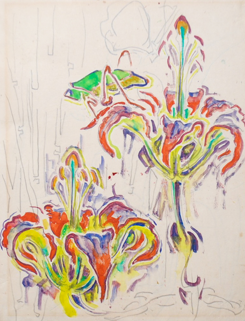 Walter Anderson, 'Red Wood Lilies and Grasshopper', Amanda Winstead Fine Art
