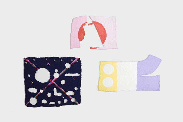 , 'Conjunto  de: Una forma de cerrar los ojos, Manifestación de los sin nombre  y Señales de humo perdidas ,' 2017, Machete