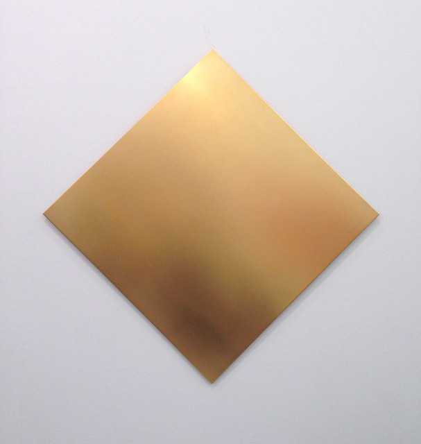 , 'Untitled  (golden square 45° turned),' 2012, Alfonso Artiaco