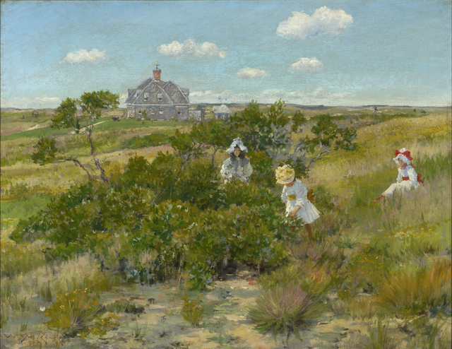 , 'The Big Bayberry Bush (The Bayberry Bush),' ca. 1895, Parrish Art Museum