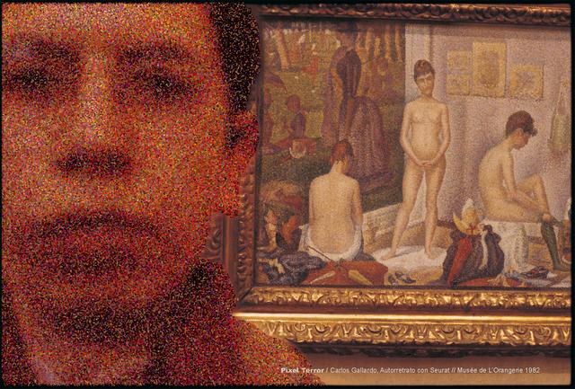 , 'Pixel Terror, Autorretrato con Seurat,' 1982, Isabel Croxatto Galería