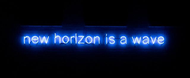 Ewa Partum, 'new horizon is a wave', 1972-2020, Installation, Neon tubing, Galerie Mathias Güntner