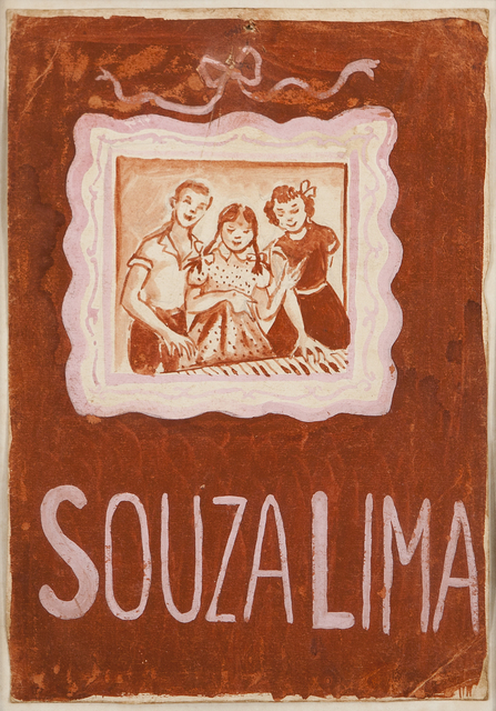 """Tarsila do Amaral, 'Estudo de Ilustração para capa do livro """"O Futuro Pianista"""" de Souza Lima', Galeria Frente"""