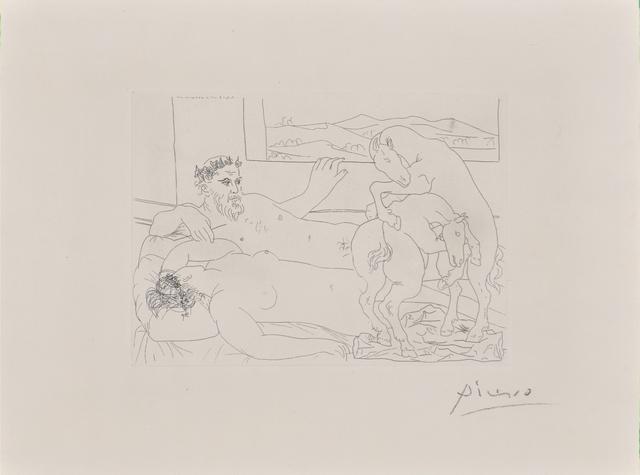 Pablo Picasso, 'Le Repos du Sculpteur III from La Suite Vollard', 1933, Rago