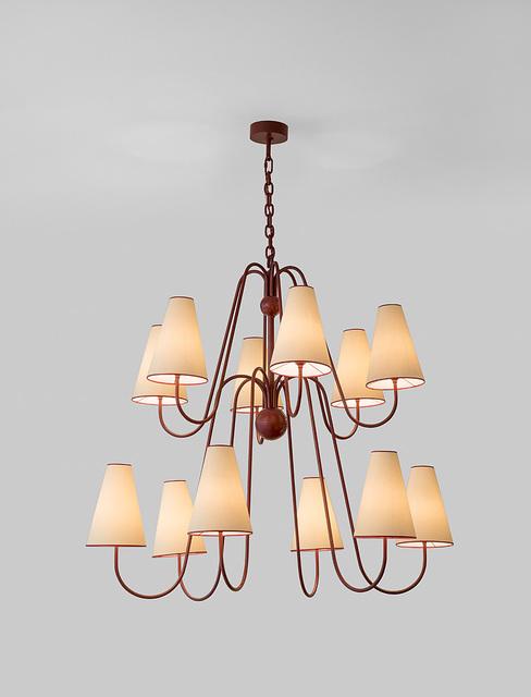 """, '""""Bouquet"""" twelve arm ceiling light,' ca. 1956, Galerie Jacques Lacoste"""