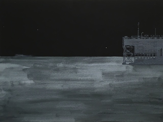 , 'Night Ship and Night Dock,' 2016, Lesley Heller Gallery