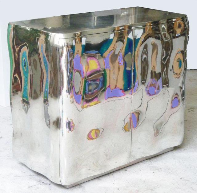 Francois Corbeau, '2 Door Cabinet 2011', 2011, Design/Decorative Art, Mirror polished tin, glass, sculpted wood, Twenty First Gallery