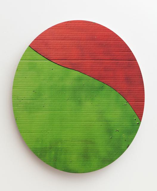 , 'cardboard curve,' 2015, Erin Cluley Gallery