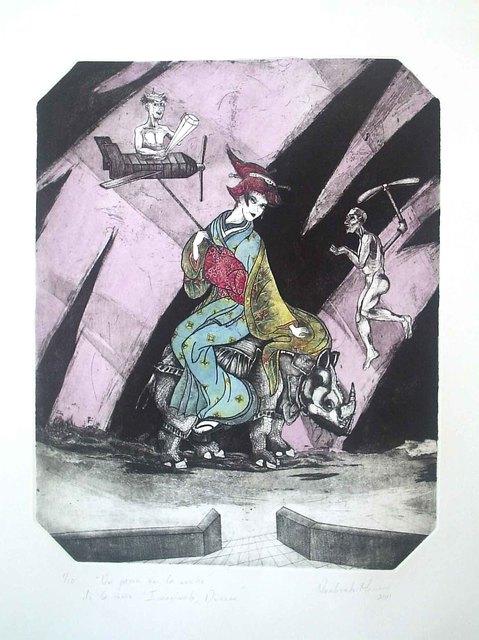 """, 'Un paseo en la noche"""" de la serie Imagínate Durero ,' 2011, Imlay Gallery"""