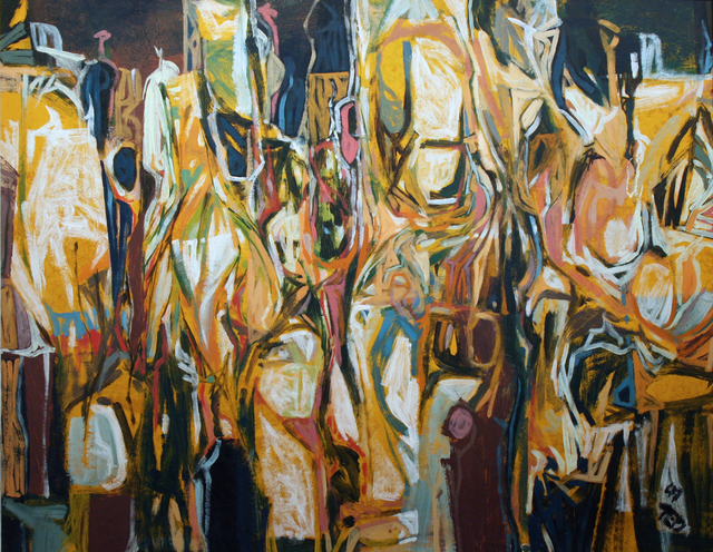 , 'The Gathering,' 1957, Wallace Galleries