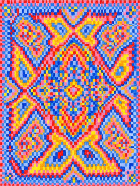 , 'Grid Drawing August 10, 2014,' 2014, Asya Geisberg Gallery