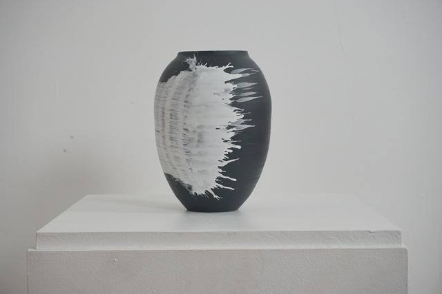 , 'Black porcelain vessel,' 2018, Henry Saywell