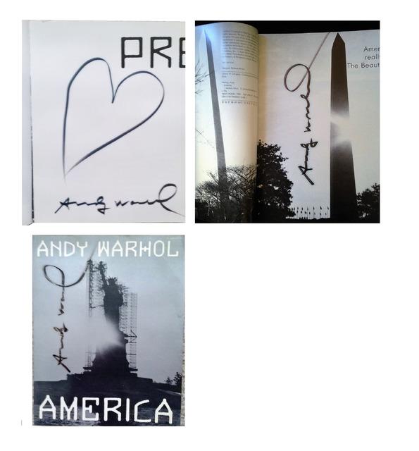 "Andy Warhol, '""AMERICA"" 2-Editions Signed, Heart Drawing ', ca. 1980, VINCE fine arts/ephemera"