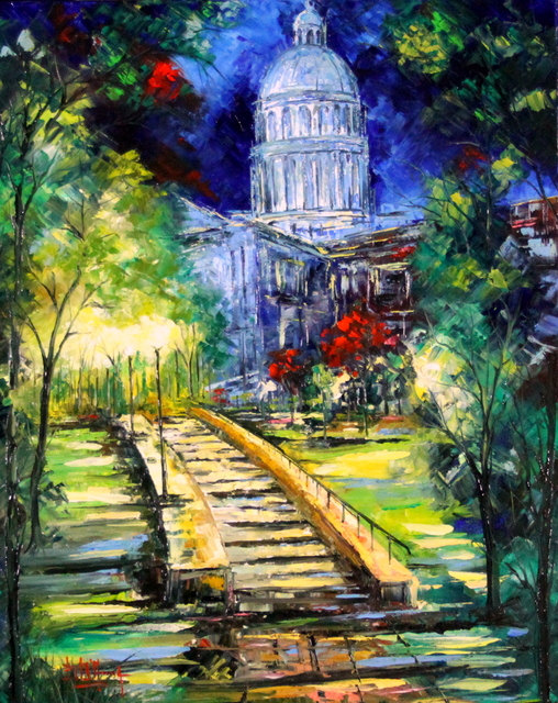 , 'Capitol by Night,' 2015, Bitfactory Gallery