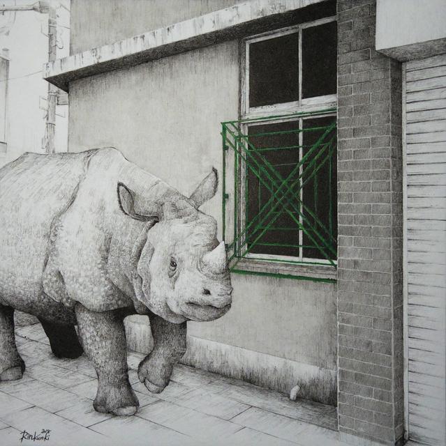 , 'HAZAMA-15 Indian rhinoceros,' 2018, Mottas