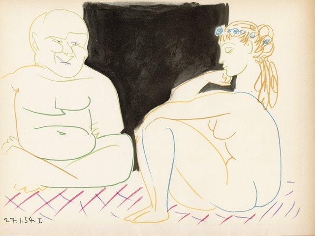 Pablo Picasso, 'The Human Comedy Lithograph from VERVE #29-30', 1954, World of WonderMei