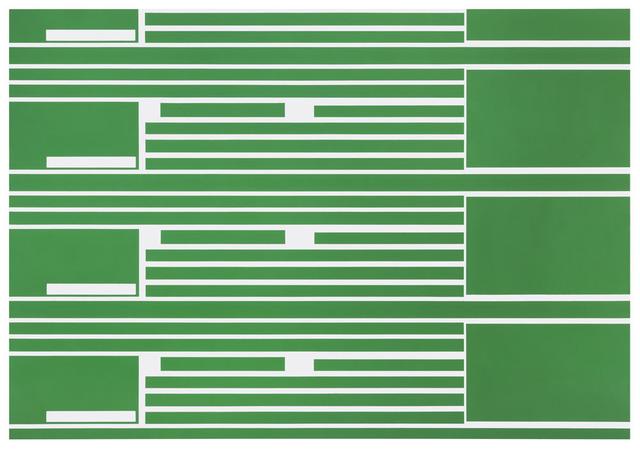, 'Green Lines,' 2014, Borzo Gallery
