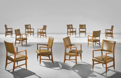 Set of twelve armchairs, from the Dulciora offices, Milan