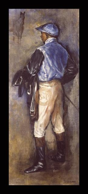 Jay Kirkman, 'Jockey in Blue', 21st Century, Print, Gouttelette Print on Paper, S&P