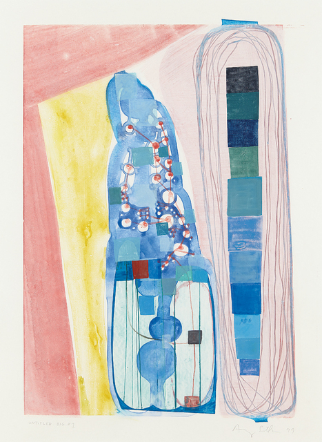 Amy Sillman, 'Untitled Big #1', 1999, Print, Monotype in colors, on wove paper, with full margins, Phillips