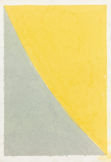 , 'Colored Paper Image VII (Yellow Curve with Gray),' 1976, Susan Sheehan Gallery
