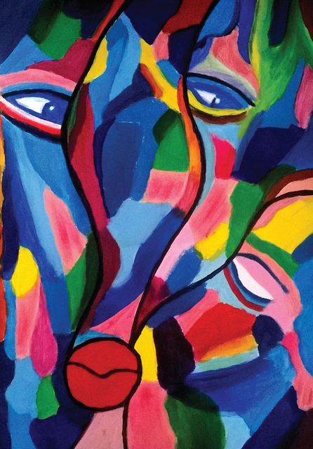 Ahmed Abdallah, 'Talking', 2018, Painting, Acrylic on paper, Janet Rady Fine Art