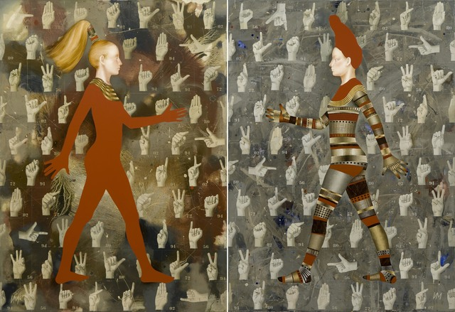 Igor & Marina, 'Walkers-XII (I Wanna Hold Your Hand)', Gallery at Zhou B Art Center