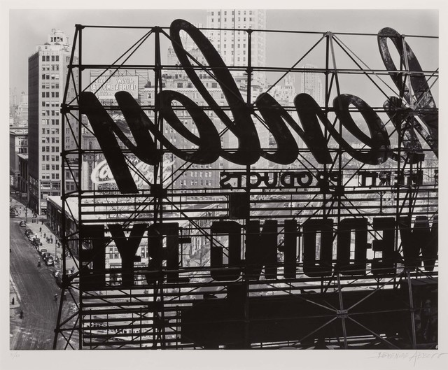 Berenice Abbott, 'Reverse of sign, Columbus Circle', 1936, Doyle