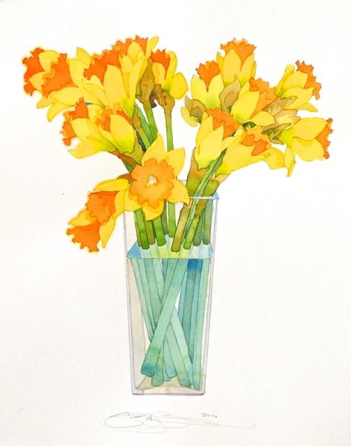 , 'Daffodils,' 2016, The Bonfoey Gallery