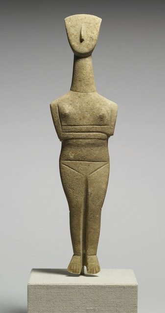 Goulandris Master, 'Cycladic Female Figurine', ca. 2500-2400 B.C., Walters Art Museum