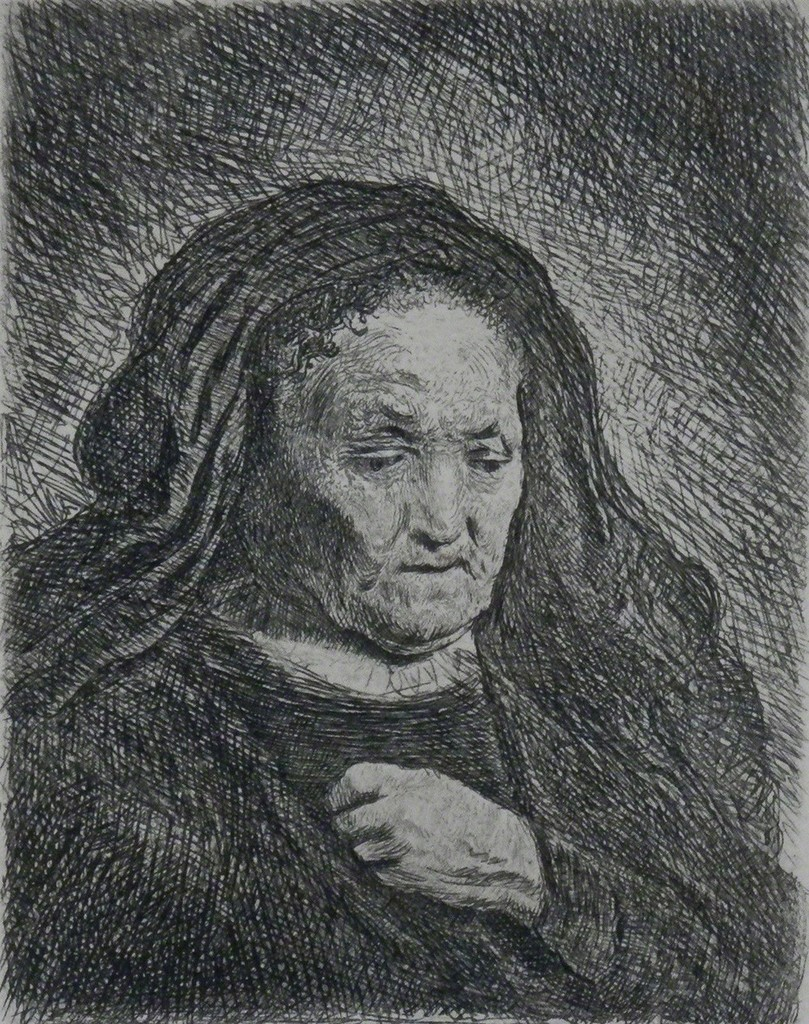 The Artist's Mother with her Hand on her Chest: Small Bust