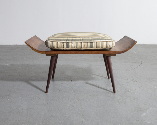 , 'Stool in rosewood with an upholstered cushion,' 1950, R & Company
