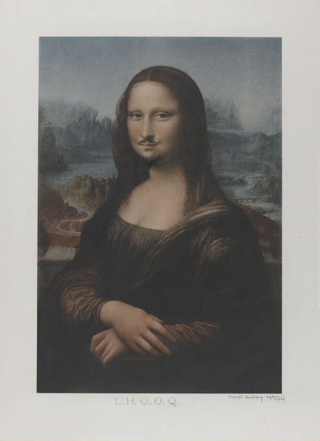 Marcel Duchamp, 'L.H.O.O.Q. Mona Lisa', 1919, Drawing, Collage or other Work on Paper, Retouched readymade (reproduction of Leonardo da Vinci's Mona Lisa with added moustache and beard)., Art Resource
