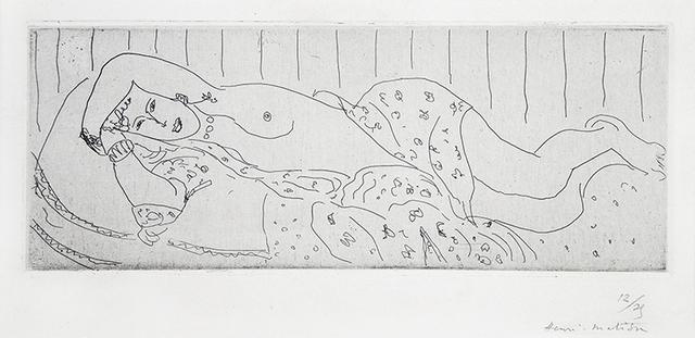 , 'Nu couché, drapé dans une étoffe fleurie,' 1929, Lyndsey Ingram
