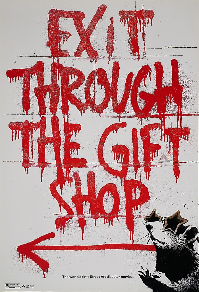 exit through the gift shop Exit through the gift shop continues in this tradition the film is initially framed as a story about the making of a documentary of the history of street art the film is initially framed as a story about the making of a documentary of the history of street art.